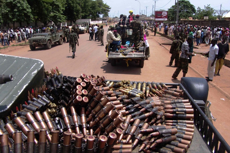 Wapiganaji wa muungano wa seleka katika mji wa Bangui March 26