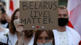 Акция солидарности с народом Беларуси в Польше 13 августа
