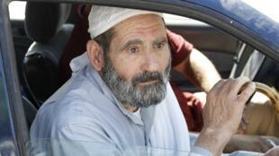 Mahmoud Othman Omar, le père d'Abou Qatada, devant la Cour de sûreté de l'Etat, à Amman, le dimanche 7 juillet 2013.