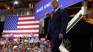 Le président Donald Trump lors d'un rassemblement à Xtreme Manufacturing, dimanche 13 septembre 2020, à Henderson, Nevada.
