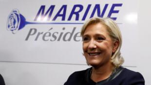 Марин Ле Пен представила логотип своей президентской кампании еще 16 ноября 2016.