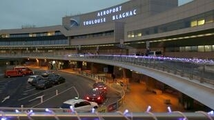 Toulouse-Blagnac airport in southwestern France