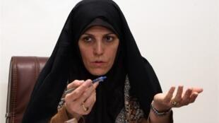 شهیندخت مولاوردی دستیار ویژه رئیس جمهوری ایران در امور شهروندی