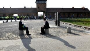 El campo de concentración nazi de Auscwhitz, en Polonia, en el Día del Holocausto