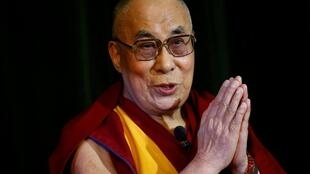 Le Dalaï Lama lors d'une visite au Royaume-Uni, le 14 septembre 2015.