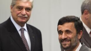 Encontro do presidente iraniano, Mahmoud Ahmadinejad, e do ministro do Desenvolvimento, Indústria e Comércio Exterior do Brasil, Miguel Jorge.