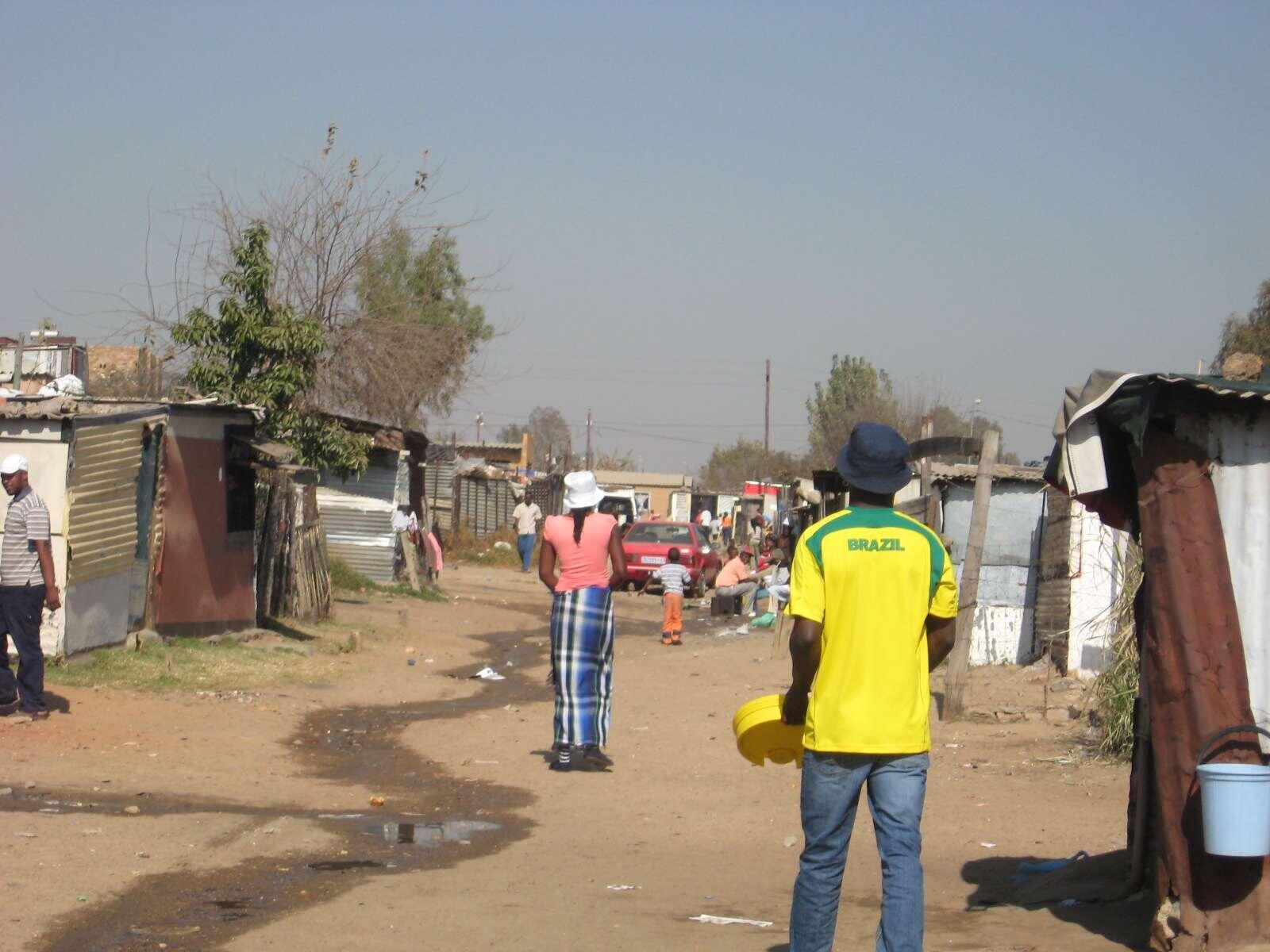 Le bidonville de Diepsloot, à une vingtaine de kilomètres au nord de Johannesburg.