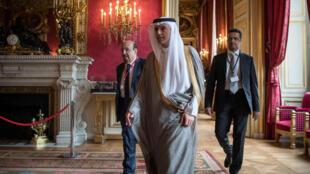 Ngoại trưởng Ả Rập Xê Út Adel bin Ahmed Al-Jubeir dự hội nghị về Syria tại Paris hôm 09/05/2016.