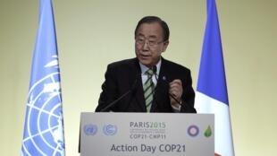 潘基文呼籲各國議會支持氣候談判