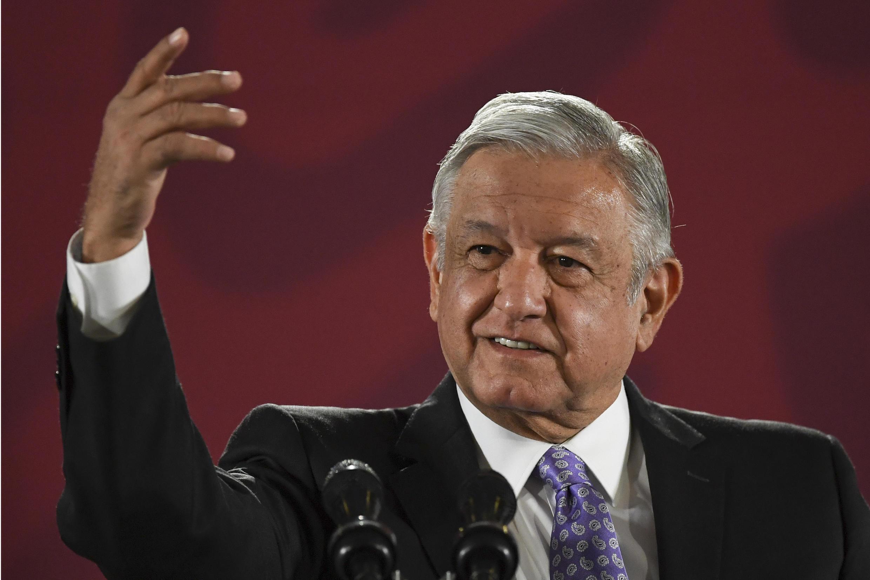 El presidente mexicano durante su conferencia de prensa matutina.