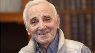 Portrait de Charles Aznavour, à l'occasion de la sortie de son album «Encores», label Universal Music/Barclay.