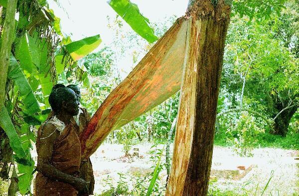 La fabrication des tissus d'écorce en Ouganda.