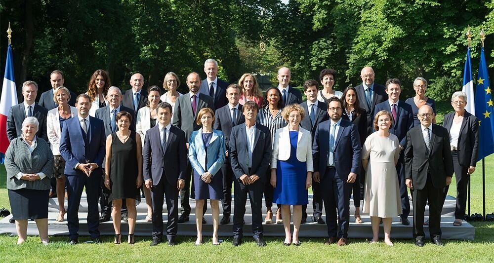 Thành phần chính phủ Pháp. Ảnh do phủ tổng thống, Điện Elysée cung cấp.