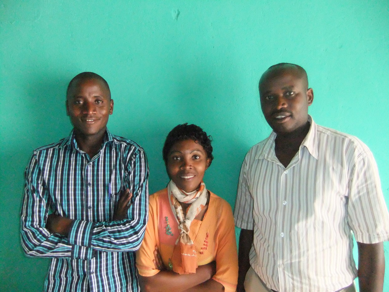 (l to r) Batwa Natcheman Ichadenya, Fanny Kanzasite, and Dieudonne Kazungu in Kigali