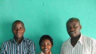 (l to r) Batwa Natcheman Ichadenya, Fanny Kanzasite, and Dieudonne Kazungu in Kigali