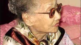 Nghệ sĩ Phùng Há, lúc 99 tuổi (DR)