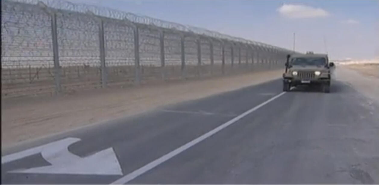 Разделительная полоса на границе Израиля и Палестинских территорий