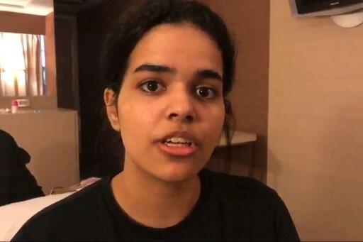 Cô Rahaf Mohammed al-Qunun, 18 tuổi, được Canada chấp nhận cho tị nạn.
