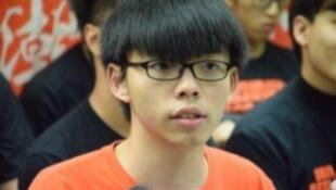 圖為香港青年學生領袖人物黃志峰