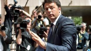 Le président du Conseil italien Matteo Renzi, le 25 juin 2015 à Bruxelles.