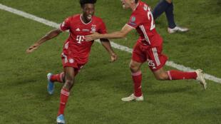 Kingsley Coman (left) scored Bayern Munich's winners against Paris Saint-Germain in the 2020 Champions League final.