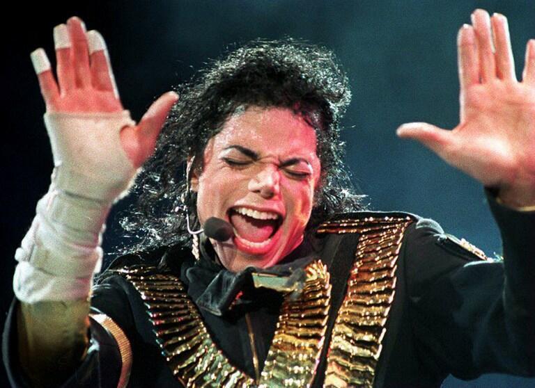 Michael Jackson en agosto de 1993, durante un concierto en Singapur.