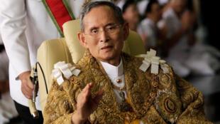 Vua Thái Lan Bhumibol Adulyadej, ảnh chụp năm 2010.