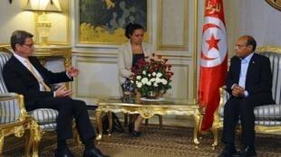 ملاقات منصف مرزوقی- رئیس جمهوری تونس با گیدو وسترول وزیر امور خارجه آلمان