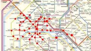 Estaciones de metro cerradas este sábado 15 de diciembre de 2018.