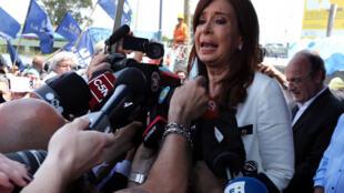 Cristina Fernández de Kirchner, el 26 de octubre de 2017.