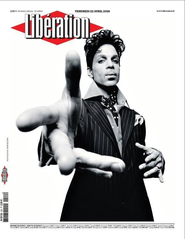Capa do jornal Libération com Prince