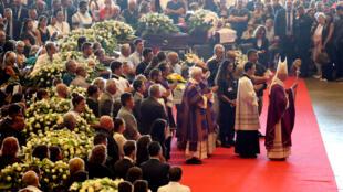 Genova tổ chức tang lễ nạn nhân tai nạn cầu sập. Ảnh ngày 18/08/2018.
