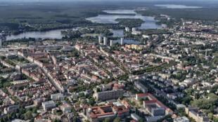 Vue aérienne de la ville de Potsdam en Allemagne.