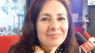 La coreógrafa y bailaora rusa Yana Maizel en los estudios de RFI en París.