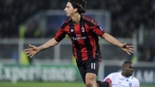 Zlatan Ibrahimovic, attaquant de l'AC Milan.