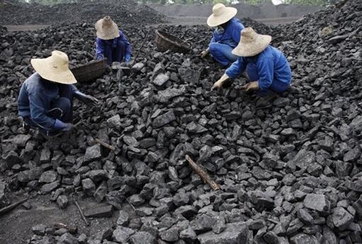 La Chine est un gros consommateur de charbon.