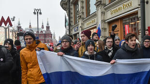 Manifestation à Moscou, le 28 janvier 2018.
