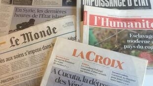 Primeiras páginas dos diários franceses de 27/02/2019