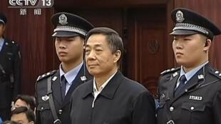 Ông Bạc Hy Lai được chỉ định làm Chủ tịch suốt đời đảng Trí Hiến. Trong ảnh: ông Bạc (G) tại phiên phúc thẩm, 25/10/2013)