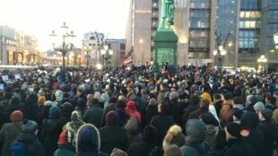 Стихийная акция памяти погибших при пожаре в Кемерове – Пушкинская площадь, Москва, 27 марта 2018