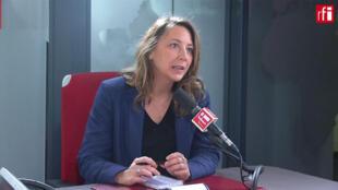 Sandra Regol porte-parole d'EELV sur RFI, le 28 novrembre  2019.