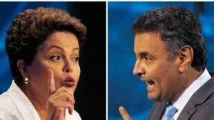 Qui va l'emporter de Dilma Rousseff et d'Aecio Neves ? Réponse ce dimanche dans les urnes.