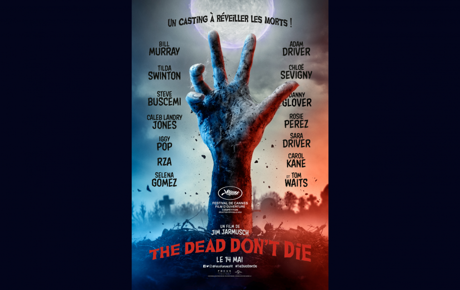 戛纳电影节首映片吉姆·贾木许(Jim Jarmusch)的新作《The Dead Don't Die》影片海报,2019年5月14日。