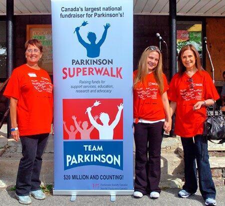 Một cuộc tuần hành ủng hộ người bị Parkinson, Toronto (Canada), 2010.