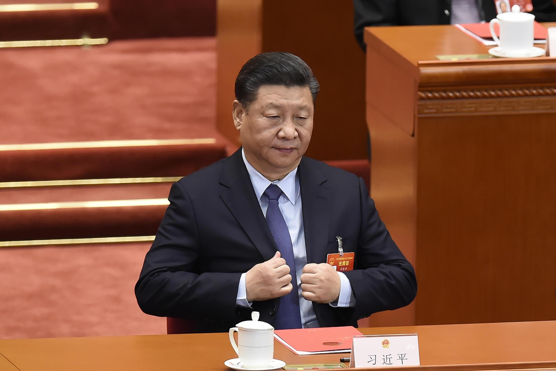 Le président chinois Xi Jinping lors du Congrès national du peuple à Pékin, le 15 mars 2019. (Photo d'illustration)