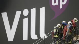 Firefights at the Cité des Sciences et Industries Museum at La Villette in Paris on Thursday