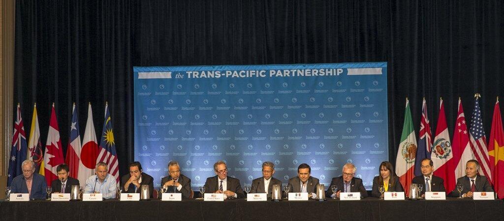 跨太平洋戰略經濟夥伴關係(TPP)12國部長召開新聞發布會2015年7月31日夏威夷毛伊島