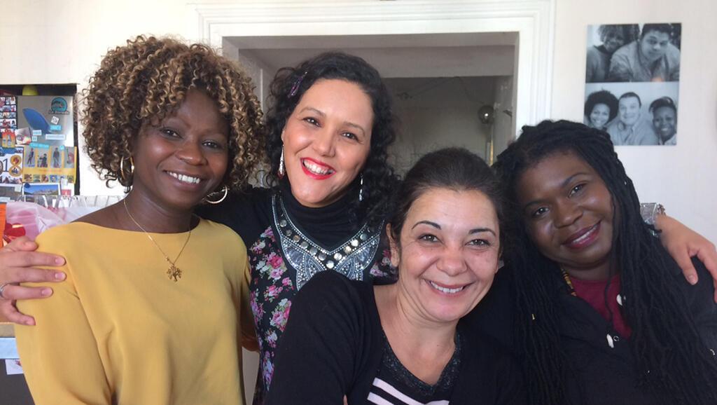 Awa, Zaïneb, Sadia et Nathalie.