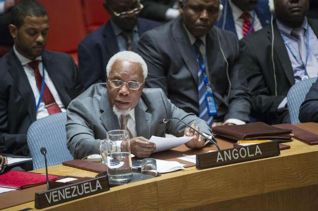 Embaixador angolano Ismael Martins no Conselho de Segurança da ONU