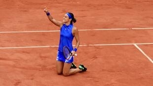 Caroline Garcia has overcome recent back injuries to reach her first Grand Slam quarter-final following her straight sets win over Alizé Cornet.